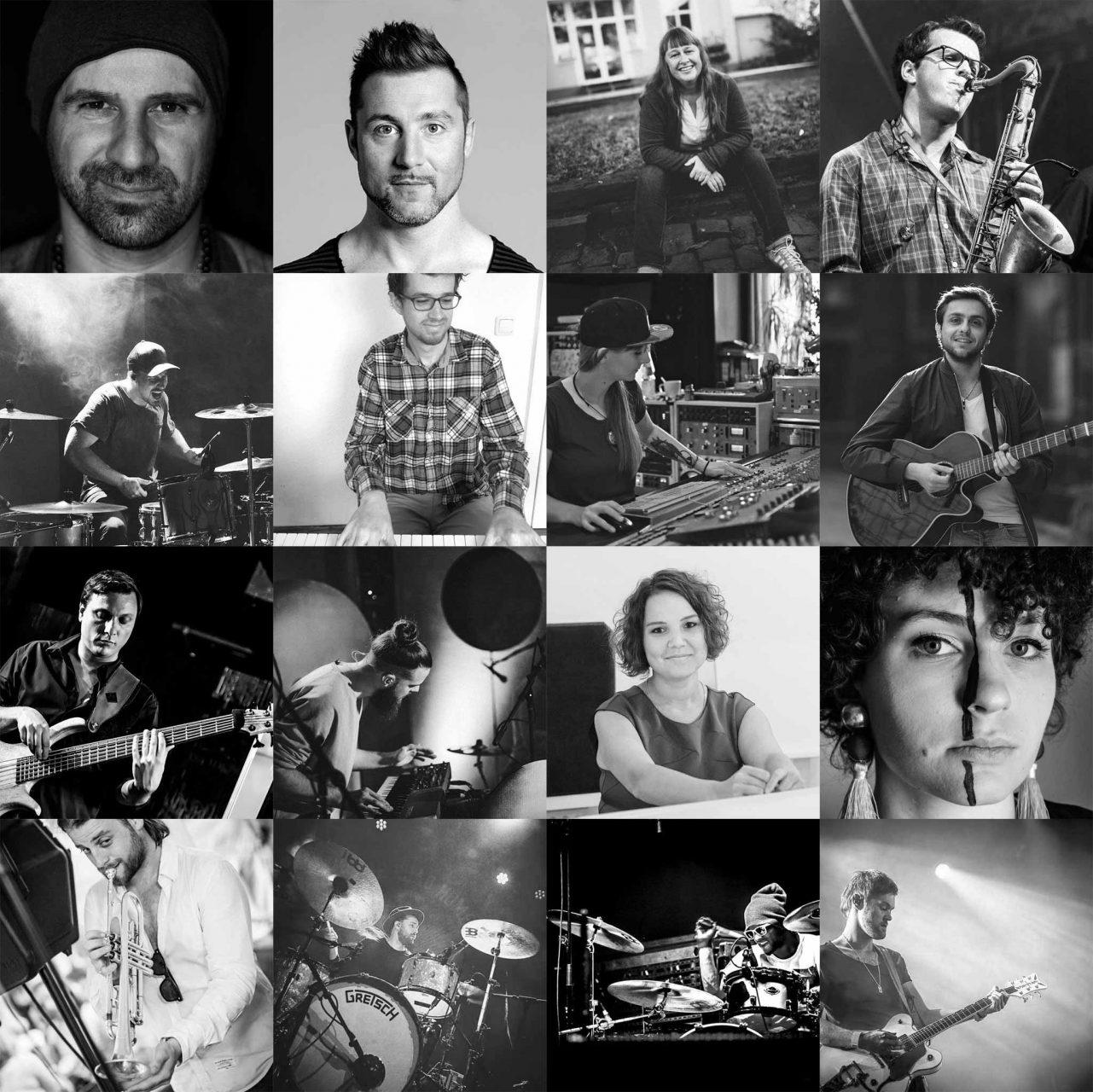 Collage des Teams der Rockademy